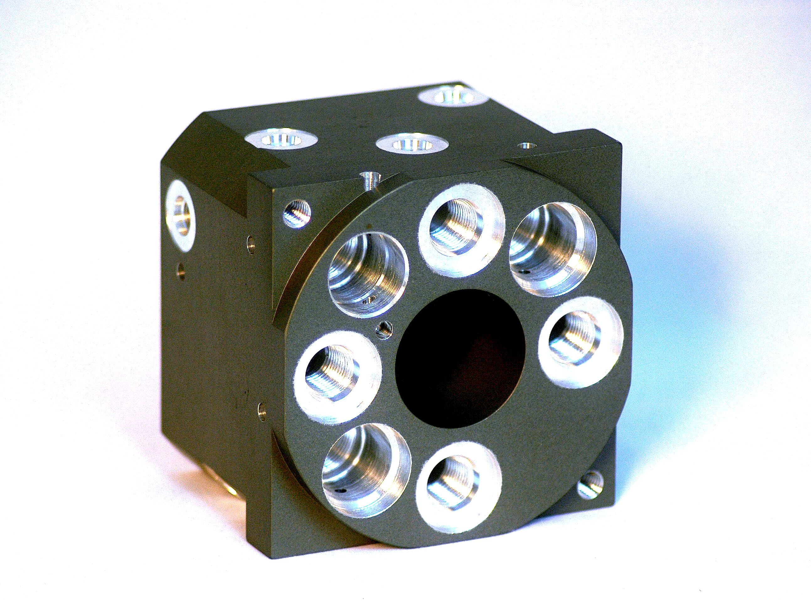 Machined Aluminum Anodized Valve
